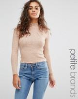 Miss Selfridge Petite High Neck Sweater