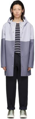Stutterheim Blue and Grey Stockholm Raincoat