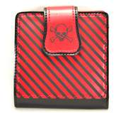 Velvetcrow Stripe & Skull Crossbone Print Bifold Punk Rockabilly Wallet