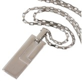 Gucci Tag 925 Sterling Silver Pendant Necklace
