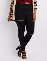 Charlotte Russe Plus Size Cello Destroyed Skinny Jeans