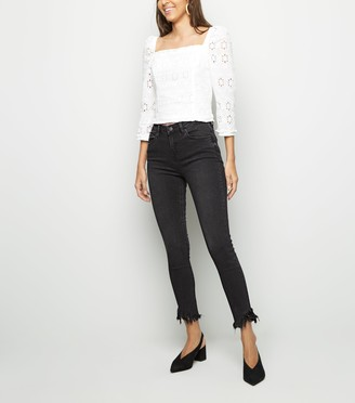 New Look Fray Hem Skinny Jenna Jeans
