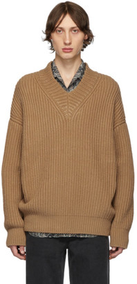 Nanushka Tan Vince V-Neck Sweater