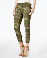 William Rast Cropped Skinny Camo Cargo Pants