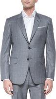 Paul Smith Bayard Sharkskin Two-Piece Wool Suit, Gray