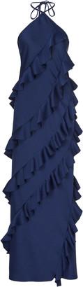 Maggie Marilyn The No Worries Ruffled Crepe Halterneck Dress
