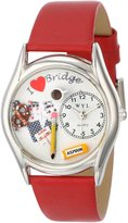 Whimsical Watches Women's S0430005 Bridge Red Leather Watch