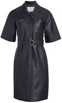 Remain Birger Christensen Puglia Leather Belted Shirtdress