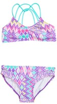 Gossip Girl Girl's Print Two-Piece Swimsuit