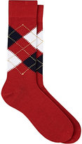 Barneys New York Men's Argyle Cotton Mid-Calf Socks