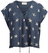 Denim & Supply Ralph Lauren Lace-Up Cotton Sweater