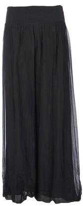 Generic Ladies Womens Italian Lagenlook Quirky Layering Plain Silk Flap Waist Puffball Style Harem Trouser Leggings Joggers Pants Loose Baggy One Size Plus UK 12-22 (Black)