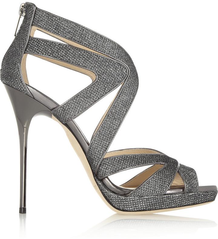 Jimmy Choo Textured-Lam? Sandals