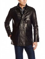 BlingSoul Mens Smooth Real Leather Car Coat XL