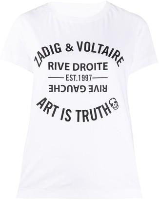 Zadig & Voltaire Walk Blason logo T-shirt