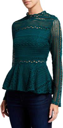 Endless Rose Crochet Lace Peplum Top