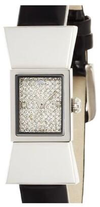 kate spade new york Women's 1YRU0129 Carlyle Analog Display Japanese Quartz Black Watch