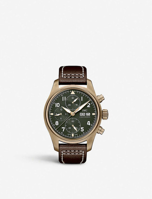 IWC SCHAFFHAUSEN IW387902 Pilots Watch Chronograph Spitfire bronze and leather watch