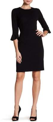 Donna Morgan Ruffle Sleeve Dress