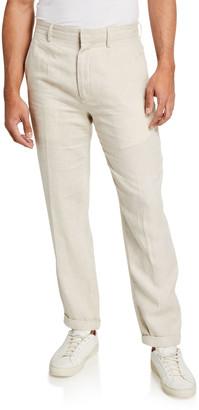 Ermenegildo Zegna Men's Drawstring Linen Pants