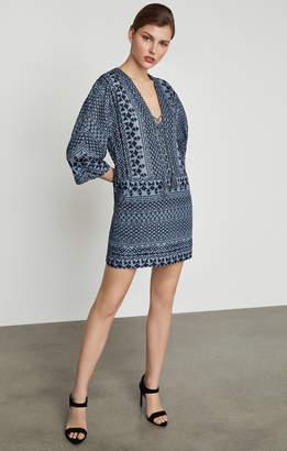 BCBGMAXAZRIA Milana Embroidered Gauze Dress