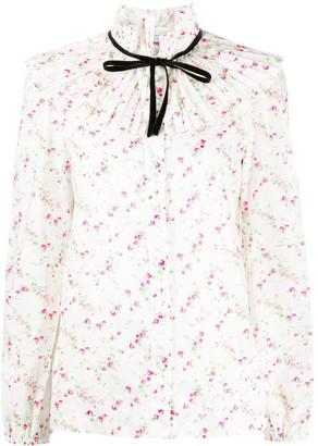 Philosophy di Lorenzo Serafini Pleated Floral-Print Shirt