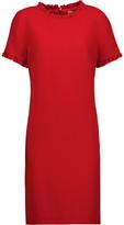 Goat Birdie Ruffle-Trimmed Wool-Crepe Mini Dress