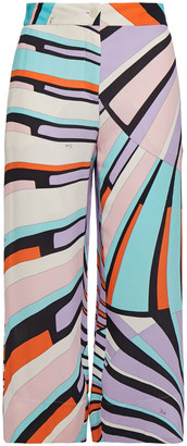 Emilio Pucci Cropped Printed Georgette Straight-leg Pants