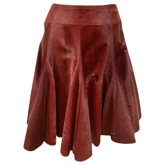 Alaia Red Pony-style calfskin Skirt for Women