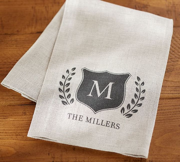 Pottery Barn Personalized Family Bar Towel, Set of 2