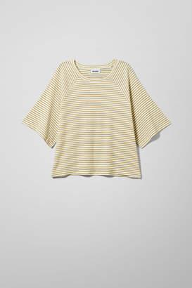 Weekday Base Boxy Striped T-shirt - Beige