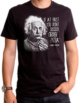 Goodie Two Sleeves 'Order Pizza' Einstein Tee - Men's Regular