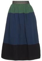 Visvim Elevation cotton and linen-blend midi skirt