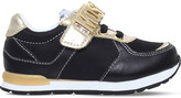 Moschino Logo leather trainers 6-8 years
