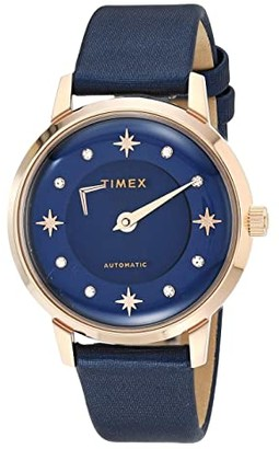 Timex 38 mm Celestial Opulence Automatic (Rose Gold/Blue/Blue) Watches