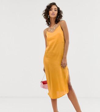 NA-KD Na Kd satin slip dress in yellow