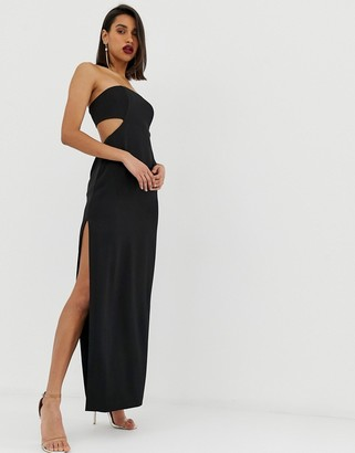 Asos Edition EDITION bandeau column dress with cut out back-Black