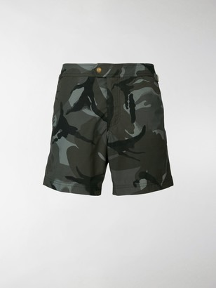 Tom Ford Printed Camouflage Swim Shorts