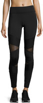 Michi Kitana Mesh-Panel Performance Leggings, Black