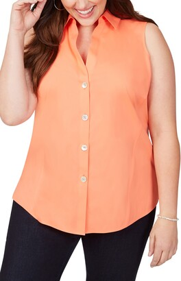 Foxcroft Paityn Sleeveless Cotton Shirt