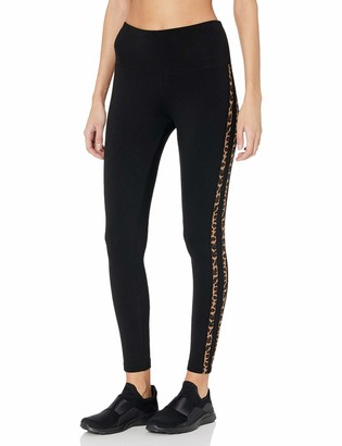 Andrew Marc Women's Leopard Side Striped Cotton-Spandex Legging