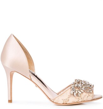 Badgley Mischka Crystal Embellished Pumps