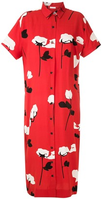 OSKLEN Floral Print Shirt Dress