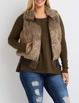 Charlotte Russe Plus Size Ribbed Faux Fur Vest