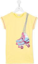 Little Marc Jacobs rollerblade print T-shirt dress - kids - Cotton/Spandex/Elastane/Viscose - 2 yrs