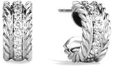 David Yurman Cable Classics Extra-Small Earrings with Diamonds