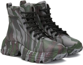 Miu Miu Camouflage ankle boots