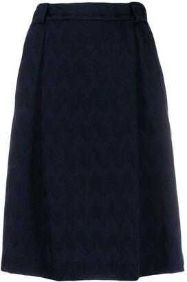 Missoni woven A-line skirt