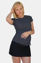 Women's Mermaid Maternity Short Sleeve Rashguard Swim Shirt