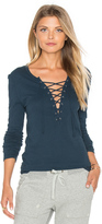 Pam & Gela Long Sleeve Lace Up Top